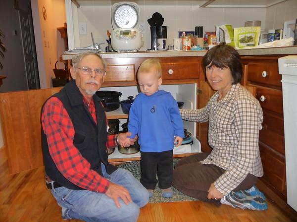 Grandpa JJ, Otto, and Grandma Shirley