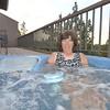 Shirley enjoying the hot tub