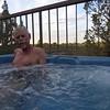 John enjoying the hot tub
