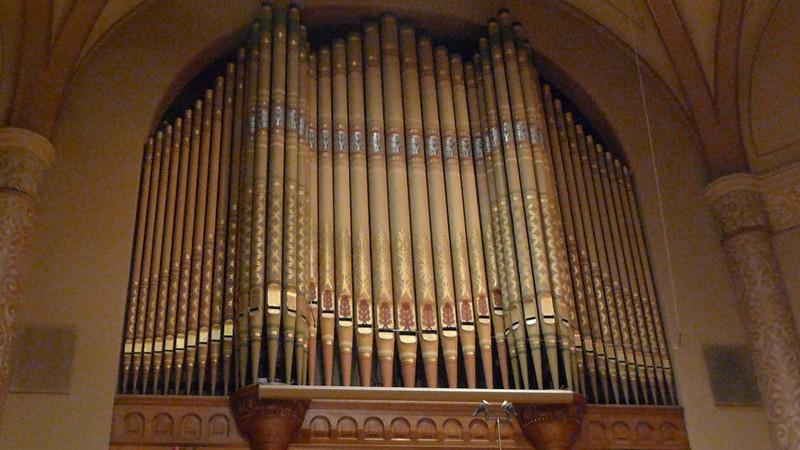 Organ pipes at the church