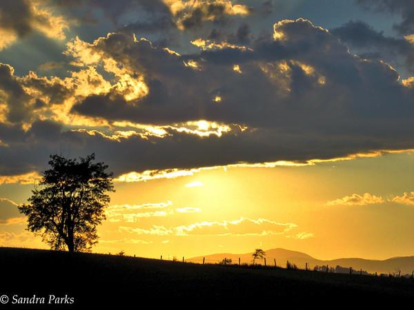 10-7-15: sunset on Centerville