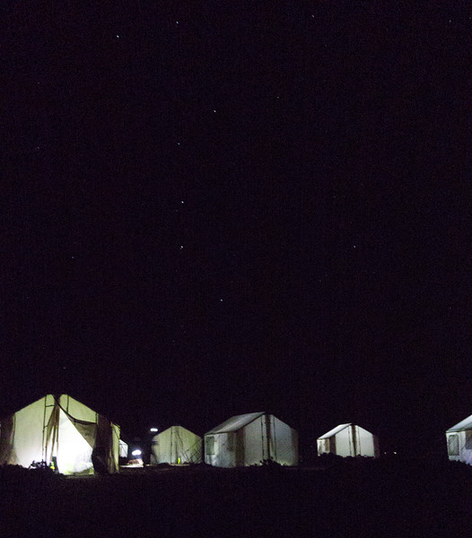 Big Dipper over camp