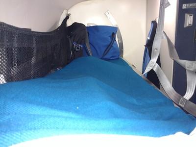 My cozy upper berth in roomette