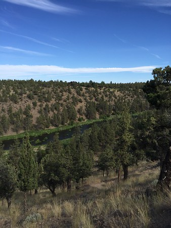 The Deschutes River from the deck