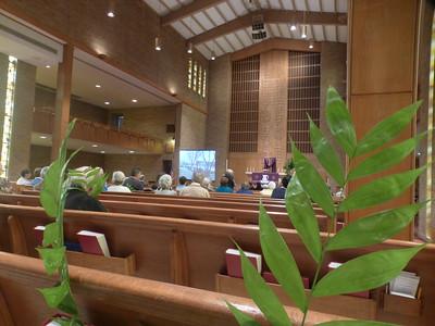 Palm Sunday at Trinity Lutheran Church, Moorhead