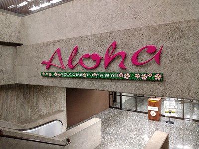 Honolulu Airport welcome