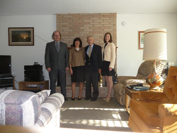 Al, Shirley, John, and Andrea at Al's house in Glyndon