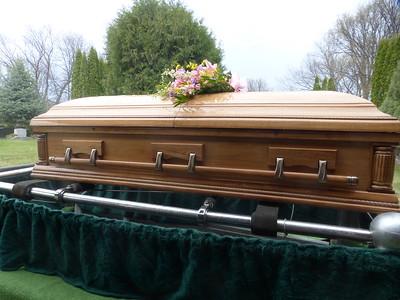 Linda's casket
