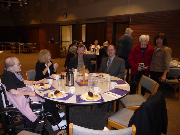 At the Hope Lutheran Church funeral lunch