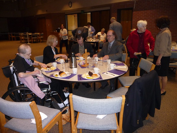 Funeral lunch at Hope Lutheran Church, Fargo