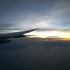 The sunrise as we were crossing continents.