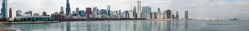 Panoramic taken near the Adler Planetarium