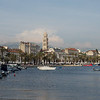 Split Old Town Harbor - view of Diocletian Palace