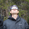 Evan admiring the eclipse