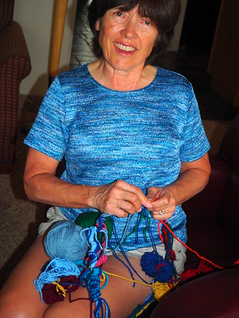 Shirley's intarsia knitting project