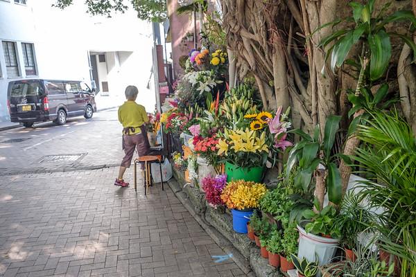 A little florist shop literally on the street