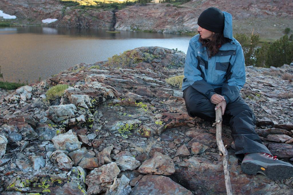 Lichen Kingdom, Mono Pass Ansel Adams Wilderness. In this photo, April Marcangeli