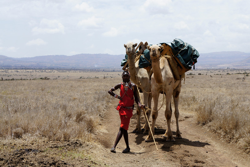 Our gear was carried on camels