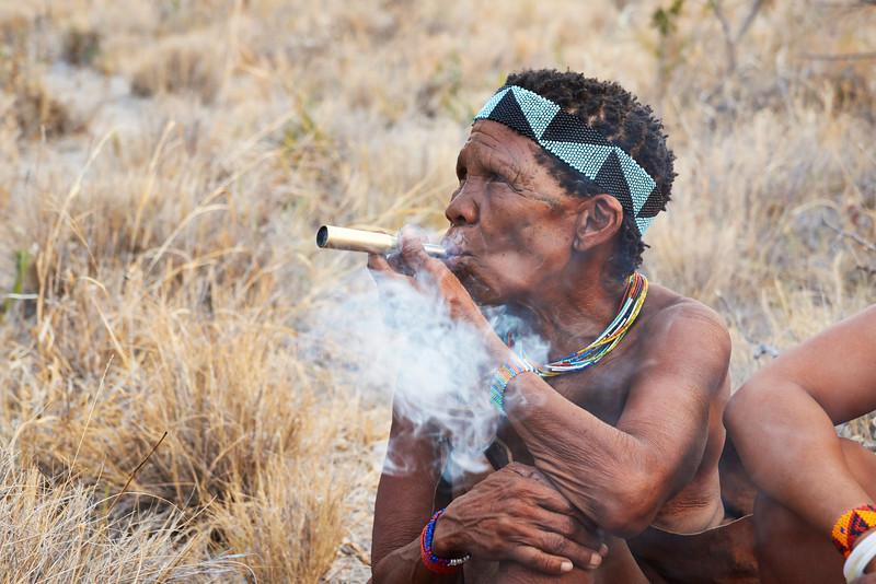 San Woman Smoking