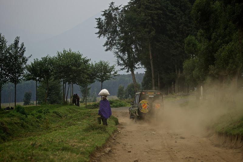 Dusty Road Sabinyo Region Rwanda