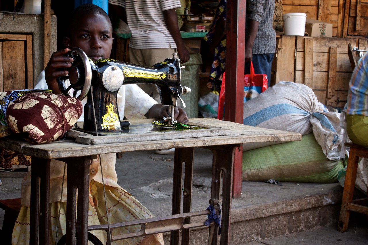 Seamstress Marketplace Northern Rwanda