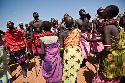 Sambura Village men dancing