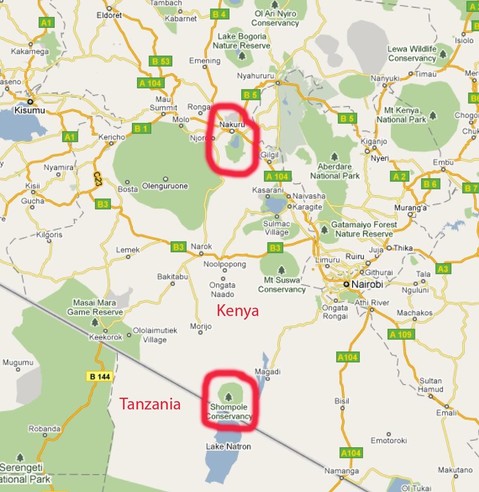 Nakuru and Shampole