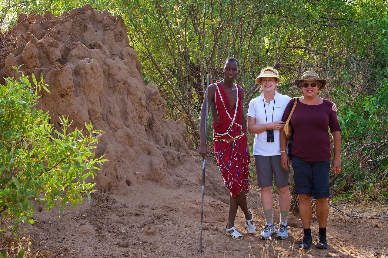 Next to a termite mound