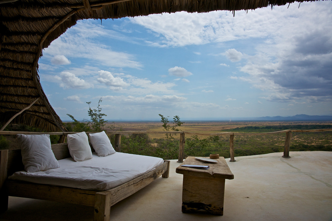 Looking across the rift valley from our room