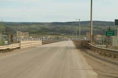The Yukon River Bridge, steel with a wooden deck.