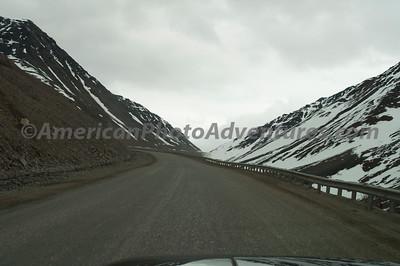 Heading up Atigun Pass.