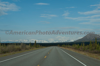 Heading to Anchorage now, Denali in the distance.