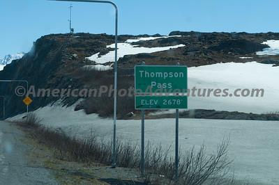 """Thompson Pass, the """"L"""" shaped markers are so the snow blowers can find the road."""
