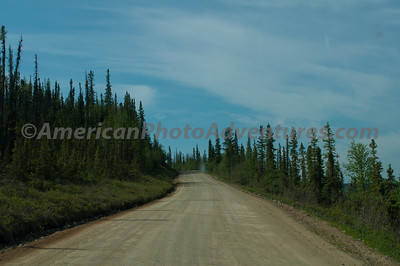The paved surface stopped a while ago, all gravel to Canada.