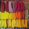 Samples of dyed yarns