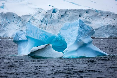 ICEBERG OF BLUE ICE, NEAR ENTERPRISE ISLAND