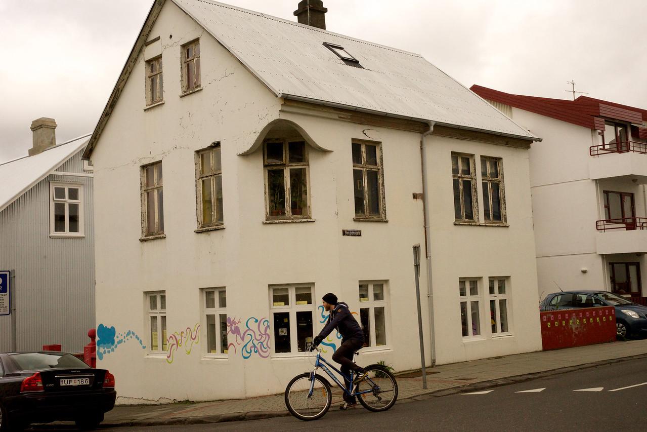 Cyclist Reykjavik