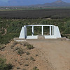 The only offical marker for the Gila River Internment Camp. The remains of the Service Monument.