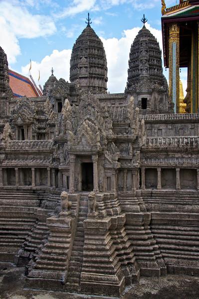 Ankor Wat model - temple of the emerald Buddha - Bangkok