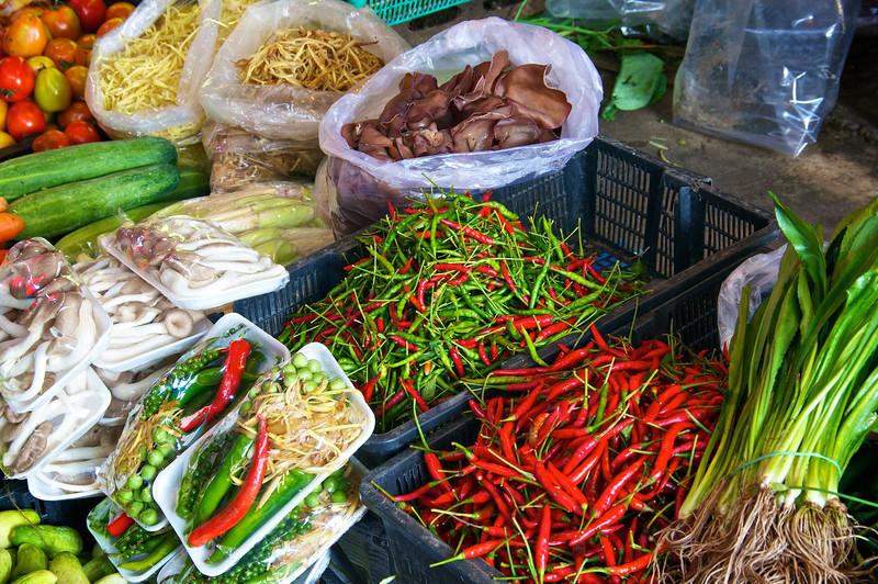 Oriental vegetables and spices - Samut Songkhram - southwest of Bangkok