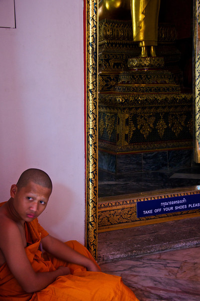 Curious monk - Wat Pho Thailand
