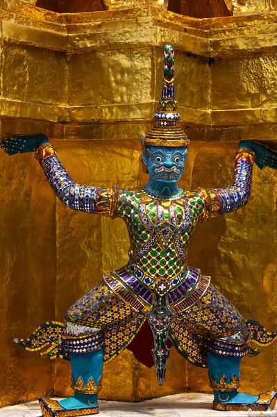 Icon from Hindu mythology - temple of the emerald Buddha, Bangkok