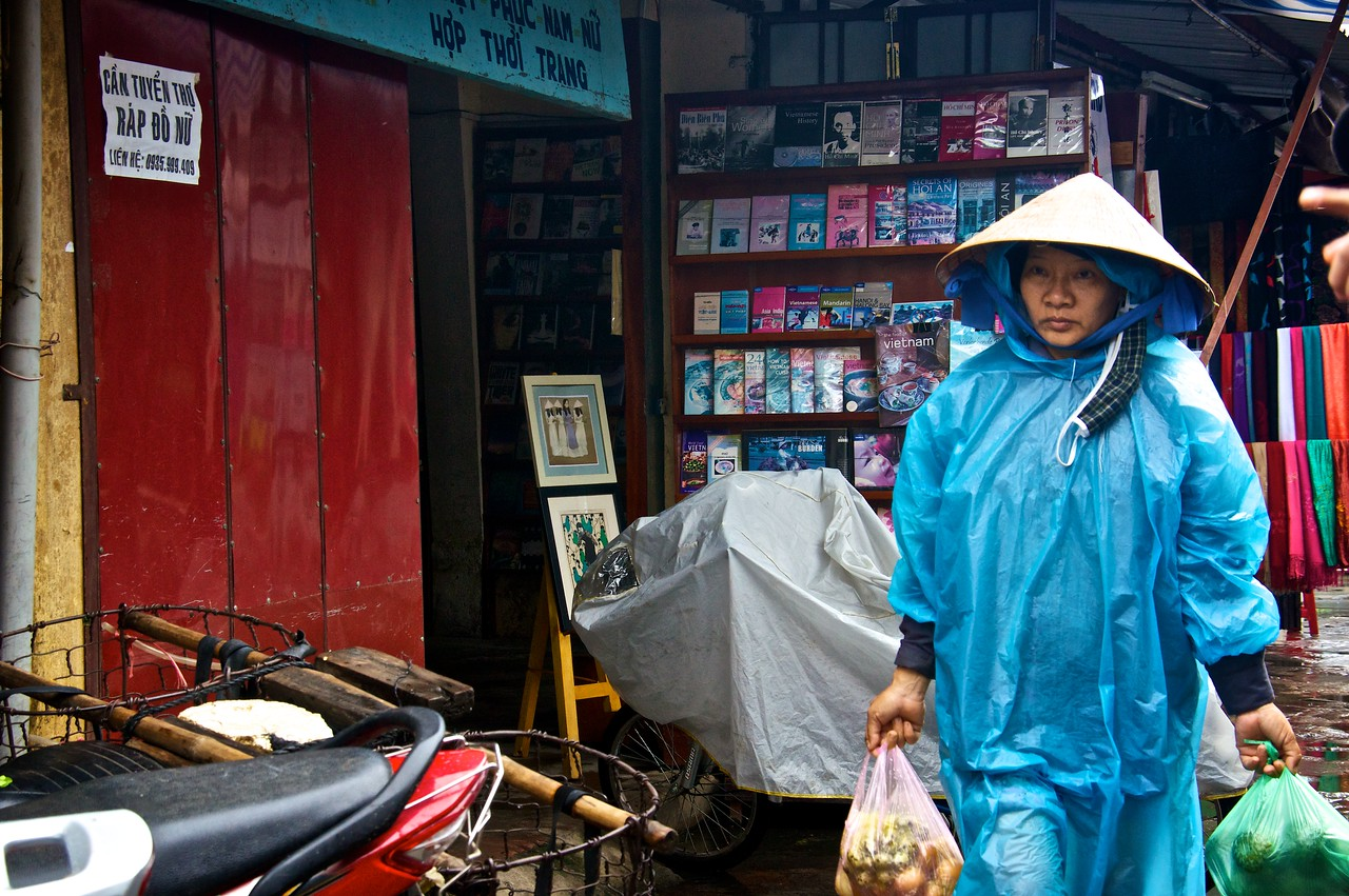 Shopping in Hoi An on a rainy day.