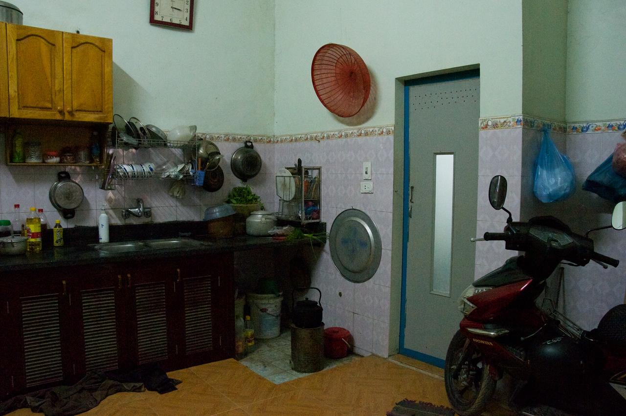 Kitchen with bike