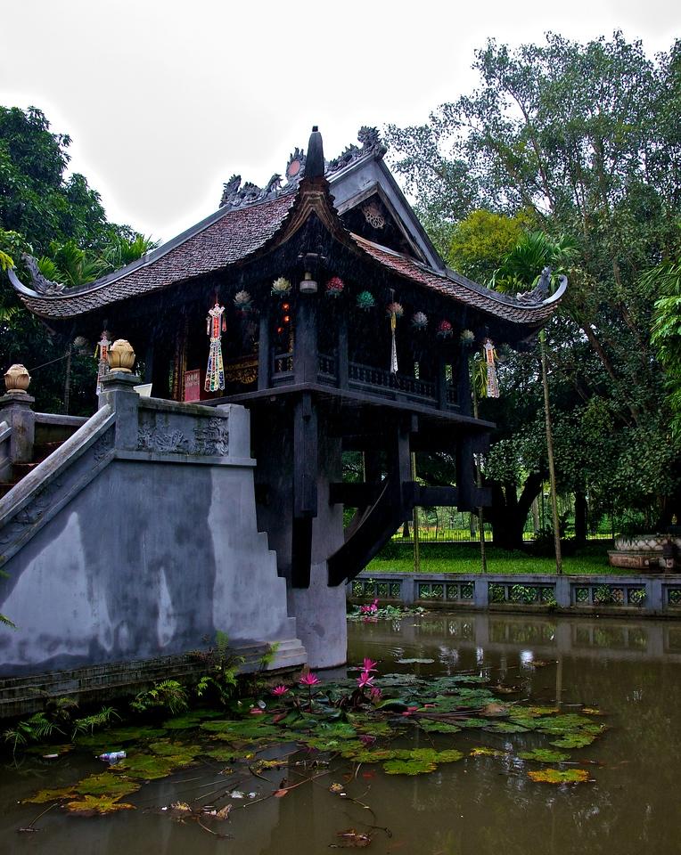 One pedestal pagoda Hanoi