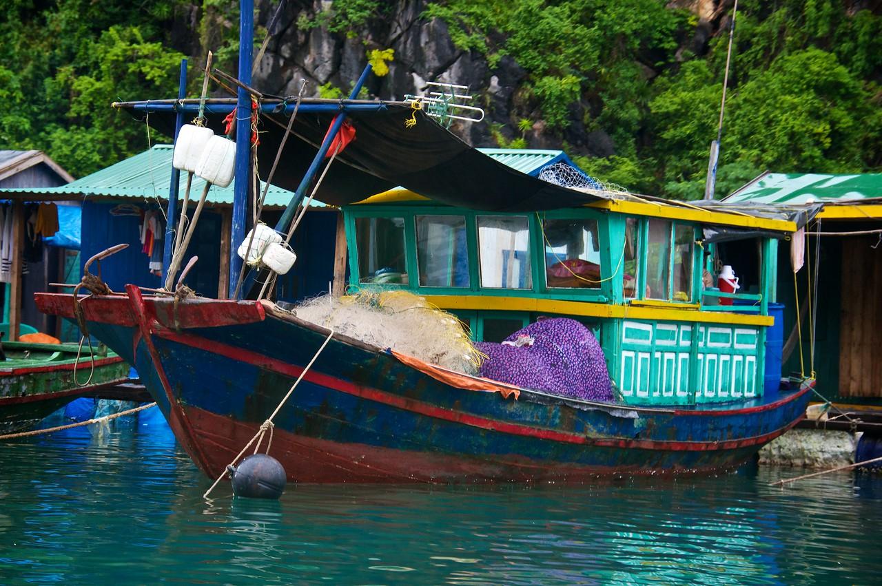 Fishing boat Halong bay.