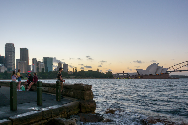 Sunset from Mrs. Macquarie's Chair