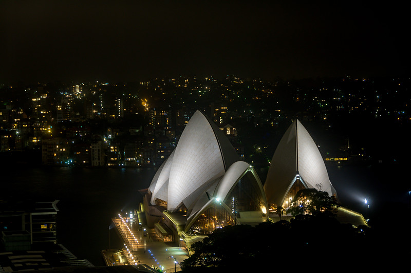 Syndey Opera House from Hotel Room Window