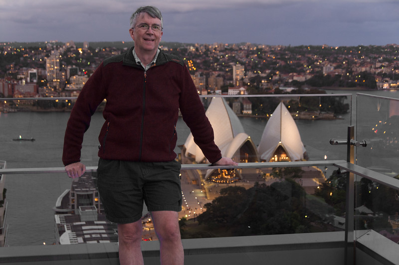 Selfie on top of Sydney Intercontinental