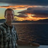 Brian in front of New Zealand Sunset
